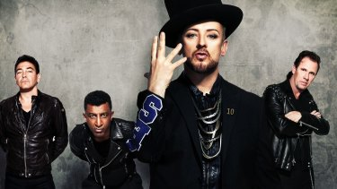 """""""I just remember feeling a bit of an imposter"""": Boy George with Culture Club."""
