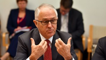 Prime Minister Malcolm Turnbull meeting with electricity company bosses at Parliament House in Canberra on Wednesday.