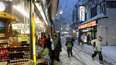 The Nozawa Onsen ski resort.