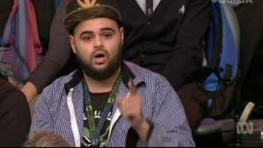 Zaky Mallah's <i>Q&A</i> appearance in June sparked a boycott by the Abbott government.