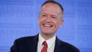 Populist: Opposition Leader Bill Shorten addresses the National Press Club in Canberra.