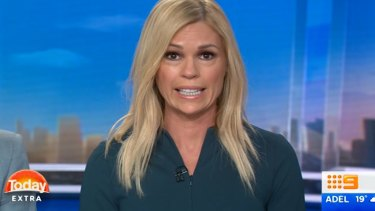 Channel Nine presenter Sonia Kruger on the <i>Today Extra</i> program.