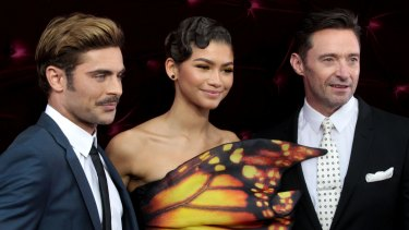 Zac Efron, Zendaya, and Hugh Jackman arrive at the Australian premiere of The Greatest Showman in Sydney.