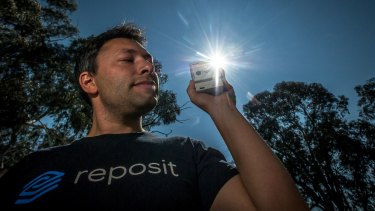Next Generation Energy Storage program. Fyshwick company Reposit Power CEO Dean Spaccavento with the home device used to transmit solar battery power.