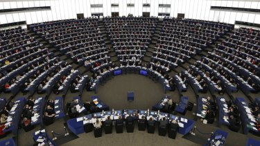 Vote: The European Parliament adopted a resolution supporting Palestinian statehood in principle.