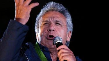 Lenin Moreno, presidential candidate for the party Alianza PAIS.