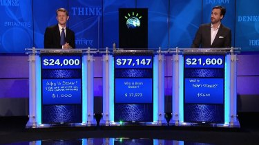 Humble beginnings: Watson rose to fame by destroying his human opponents on the TV game show <i>Jeopardy</i>.