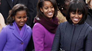 Sasha, Malia and Michelle Obama in 2013.