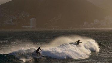 Wave of fear: Ipanema beach in Rio.