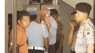 Appeal to be heard next week: Barrister Julian McMahon negotiates a visit to his clients, Andrew Chan and Myuran Sukumaran, on Nusakambangan island from Wijaya Pura port in Cilacap.
