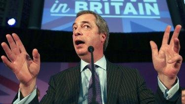 United Kingdom Independence Party leader Nigel Farage.