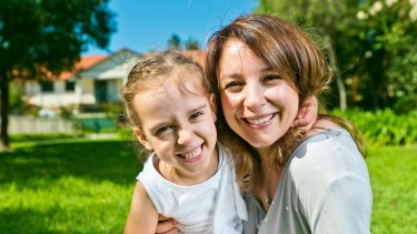 Luana Campione with her four-year-old daughter Zoey at their inner-west home.