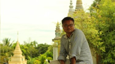 'What he saw broke his heart': Bunhom Chhorn at his father's memorial site in rural western Cambodia.