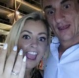 Cathrina Cahill and Daithy Ian Walsh show off the engagement ring.