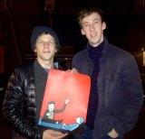 French illustrator Jean Jullien (right) with American actor Jesse Eisenberg.