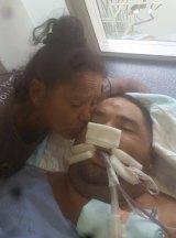 Ricky Slater in John Hunter Hospital before he died.