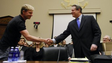 Bjorn Lomborg with Al Gore at a Washington climate-change hearing in 2007.
