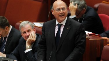 "Senator Arthur Sinodinos: his support for Abbott is ""not unconditional""."