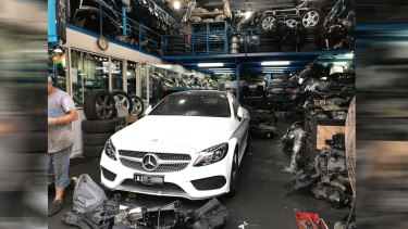 Mercedes Benz stolen in Melbourne and located in Dubai.