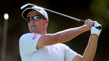 Heating up: Adam Scott has produced the best golf of his summer swing on the Gold Coast.