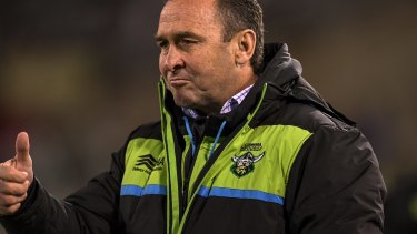Confident: Raiders head honcho Ricky Stuart.