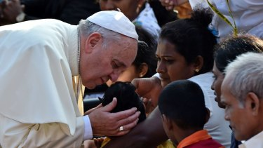 Pope Francis during a visit this week to the Sri Lankan capital Colombo.