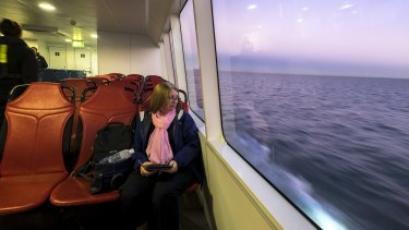 """CBD worker Lisa Faldon, said the ferry would be """"a much nicer experience"""" than the train."""