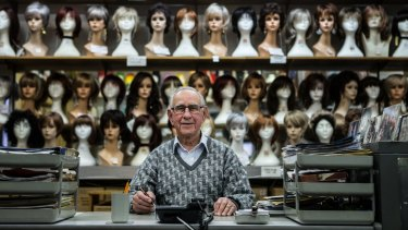 Abe Lourie, 86, founded Creative Wigs in 1957. The City of Melbourne is this week awarding him a Platinum commendation for 50-plus years in business.