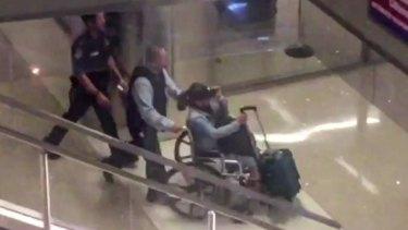 Marilou Danley, girlfriend of the Las Vegas gunman, arrives at Los Angeles International Airport.