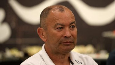 Not impressed: Eddie Jones has labelled a question from former Wallaby and Fox Sports pundit Stephen Hoiles at the post-match press conference as 'disrespectful' before lashing out at the Australian media.