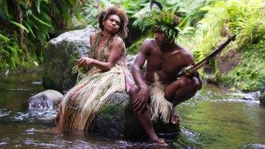 Marie Wawa as Wawa and Mungau Dain as Dain, the two star-crossed lovers in <i>Tanna</i>.