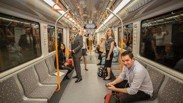 Driverless, single-deck trains will run along the new line to Parramatta.