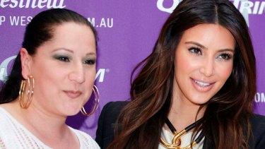 Sydney based Christine Kardashian with her distant relative, Kim.