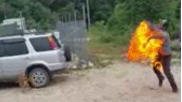 Omid Masoumali died after setting himself on fire on Nauru.
