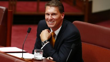 Senator Cory Bernardi, surrounded by his friends and well-wishers
