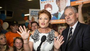 Pauline Hanson on the night of the West Australian election.