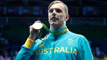 Kyle Chalmers won gold, but barely knew who he was swimming against.