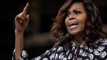 First lady Michelle Obama speaking for Hillary Clinton for president.
