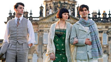 Hayley Atwell with (from left) Matthew Goode and Ben Whishaw in the 2008 film Brideshead Revisited.