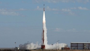 The HiFiRE 5B launches at the Woomera Test Range.