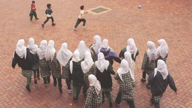 Students at an Islamic College.