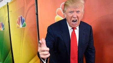 Donald Trump promoting The Celebrity Apprentice in 2015.