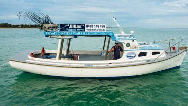 The Jillian, a former rescue boat, now hosts fishing trips.