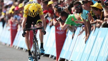 Chris Froome says a spectator threw urine over him.