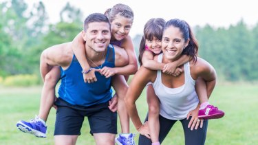 Research shows they'll follow your lead on fitness - whatever that is.