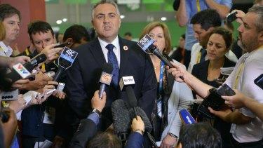 Action plan: Treasurer Joe Hockey speaks to the media on Thursday at the G20 summit press centre.
