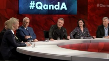 The panel on Monday night's Q&A.