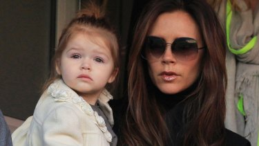 In focus: Victoria Beckham with her daughter, Harper.