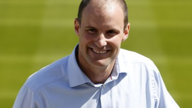 Former England captain Andrew Strauss is unveiled as the new ECB Director of Cricket.