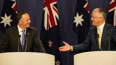 New Zealand Prime Minister John Key and Malcolm Turnbull.